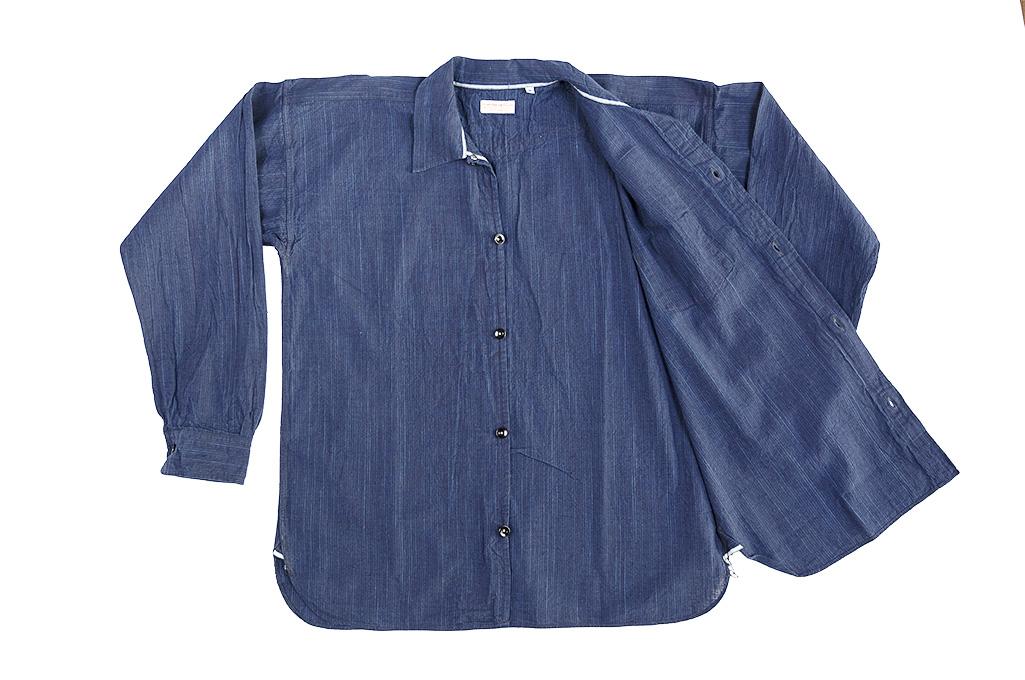Sugar Cane AWA-AI Sugar Cane Fiber Blend Indigo Shirt - Navy - Image 15