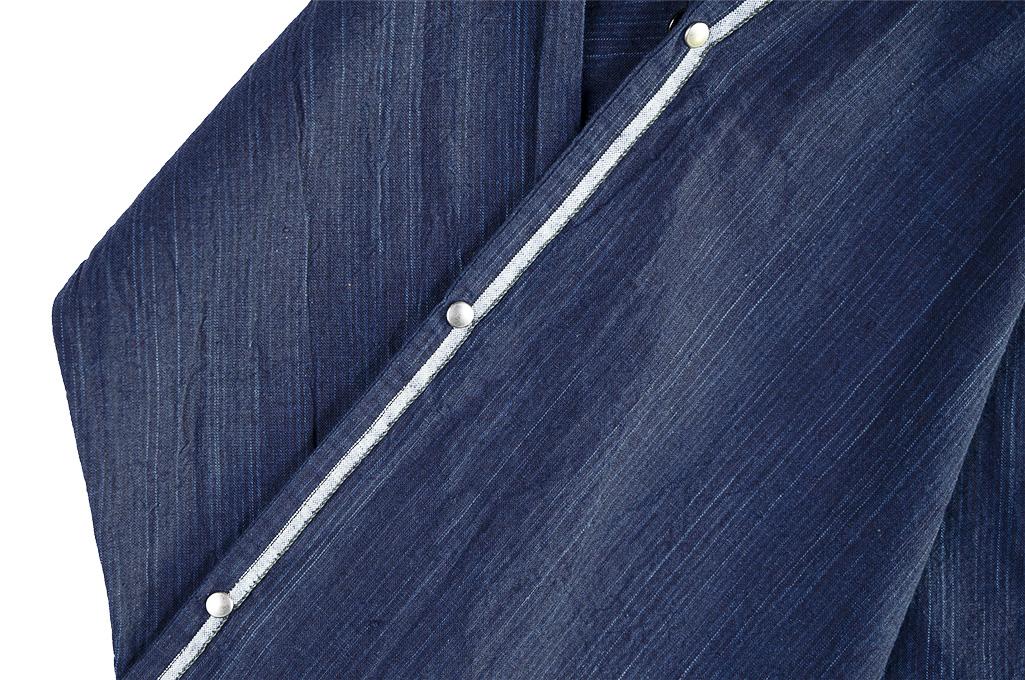 Sugar Cane AWA-AI Sugar Cane Fiber Blend Indigo Shirt - Navy - Image 16