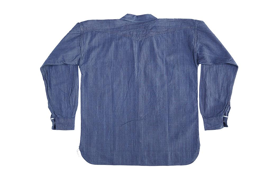 Sugar Cane AWA-AI Sugar Cane Fiber Blend Indigo Shirt - Navy - Image 17