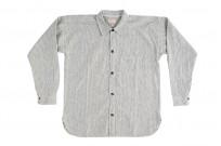 Sugar Cane AWA-AI Sugar Cane Fiber Blend Indigo Shirt - Off-White - Image 7
