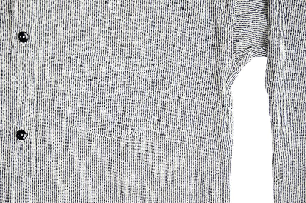 Sugar Cane AWA-AI Sugar Cane Fiber Blend Indigo Shirt - Off-White - Image 8