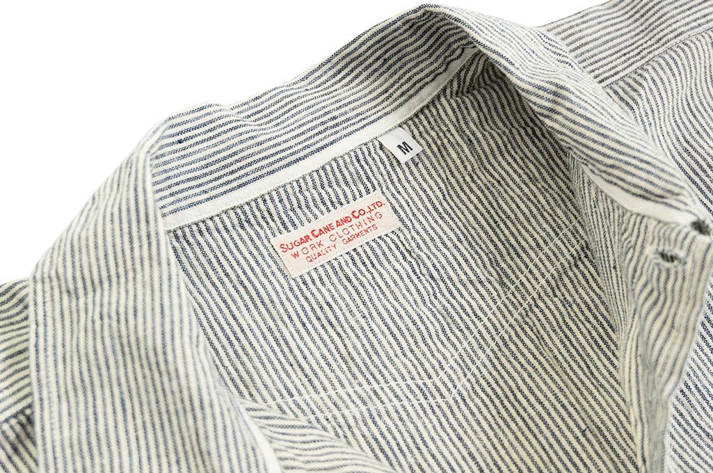 Sugar Cane AWA-AI Sugar Cane Fiber Blend Indigo Shirt - Off-White - Image 9