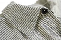 Sugar Cane AWA-AI Sugar Cane Fiber Blend Indigo Shirt - Off-White - Image 10