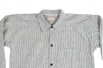 Sugar Cane AWA-AI Sugar Cane Fiber Blend Indigo Shirt - Off-White - Image 11