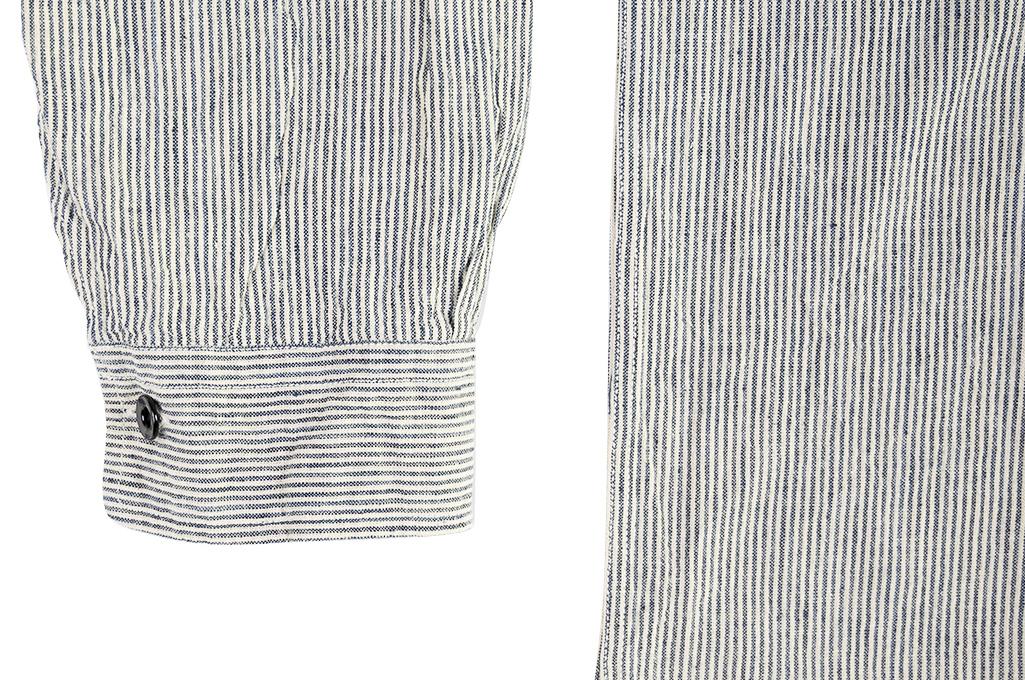 Sugar Cane AWA-AI Sugar Cane Fiber Blend Indigo Shirt - Off-White - Image 12