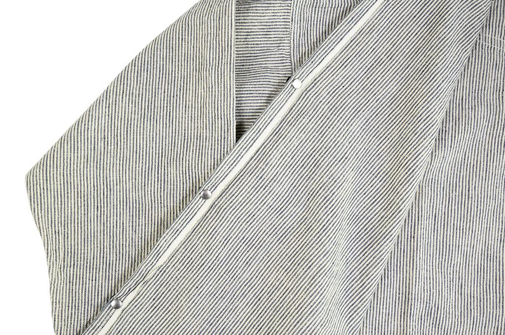 Sugar Cane AWA-AI Sugar Cane Fiber Blend Indigo Shirt - Off-White - Image 16