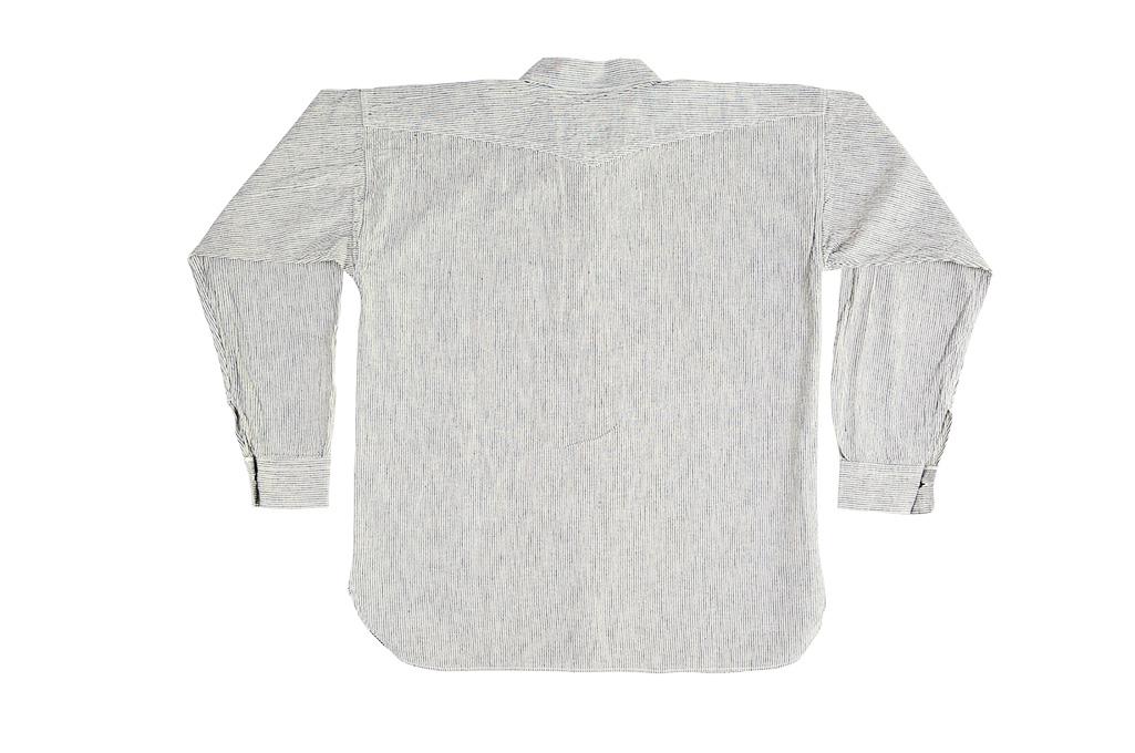 Sugar Cane AWA-AI Sugar Cane Fiber Blend Indigo Shirt - Off-White - Image 17