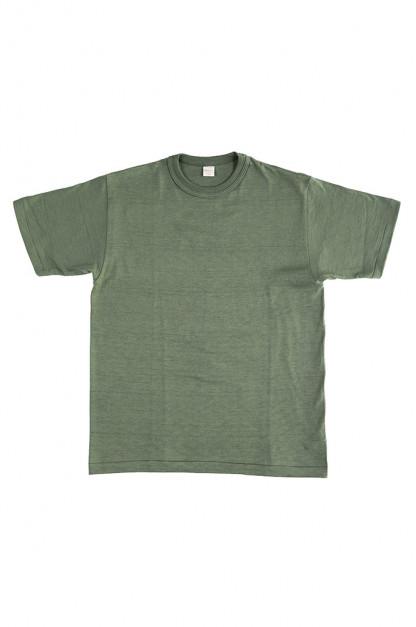 Warehouse Slub Cotton T-Shirt - Green Plain