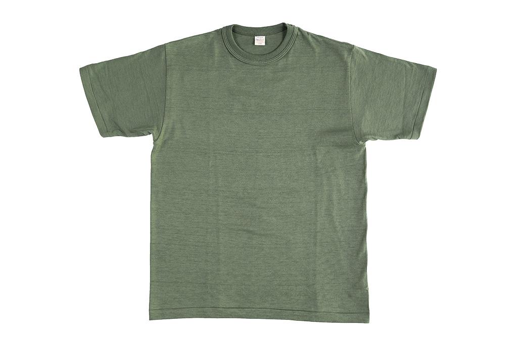 Warehouse_Slub_Cotton_T-Shirt_Green_Plai