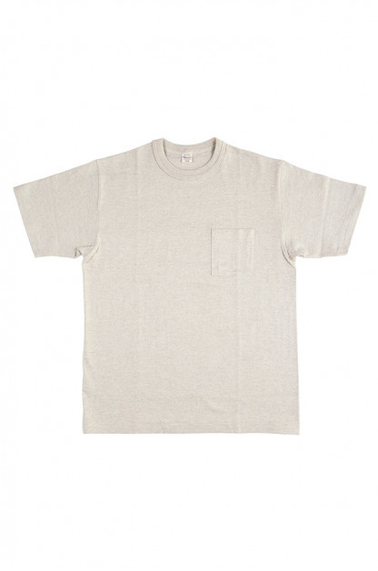 Warehouse Slub Cotton T-Shirt - Oatmeal Pocket