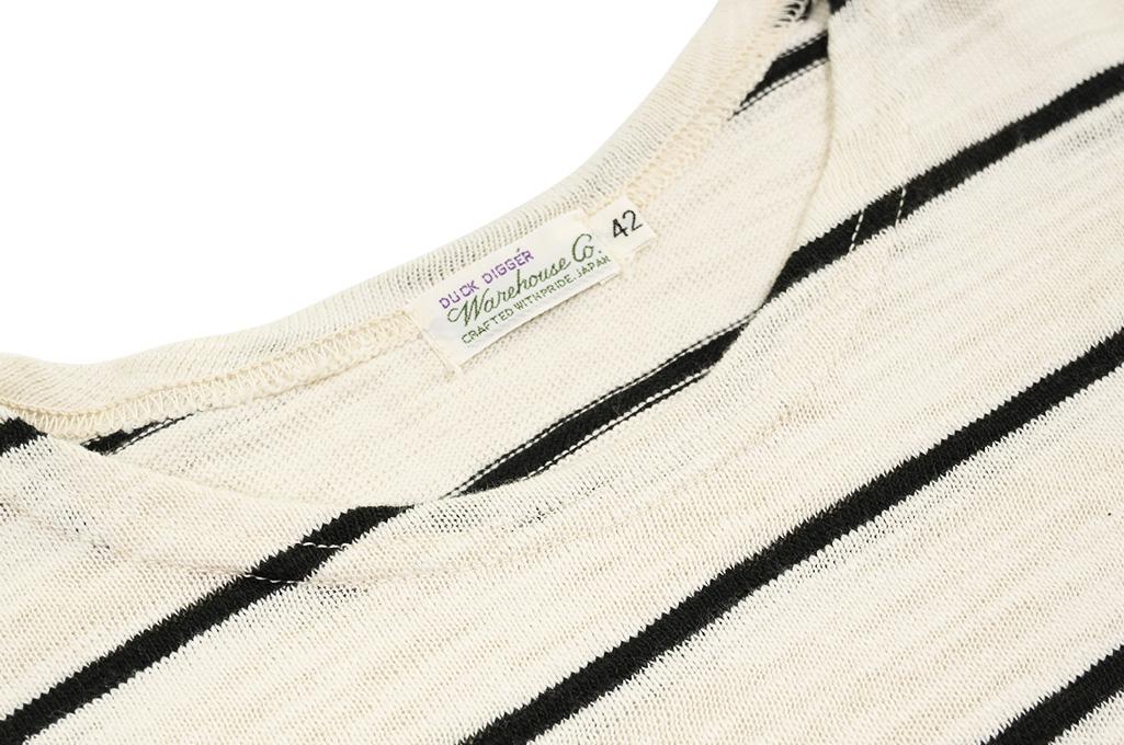 Warehouse_Slub_Cotton_T-Shirt_Striped_Of