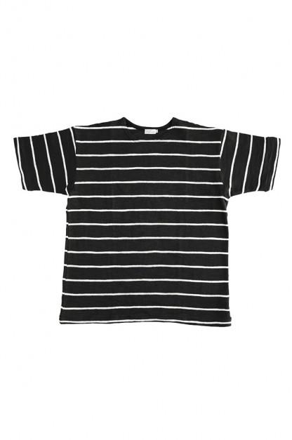 Warehouse Slub Cotton T-Shirt - Striped Sumikuro