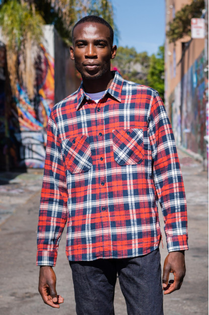 Seuvas Heavy Winter Flannel Shirt - Cherry Haze