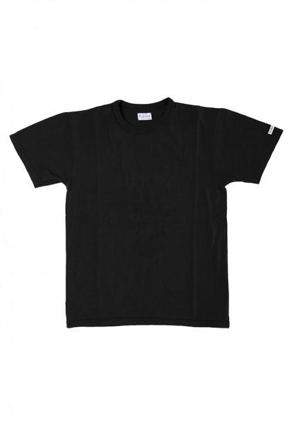 Flat Head Loopwheeled Blank T-Shirt - Black