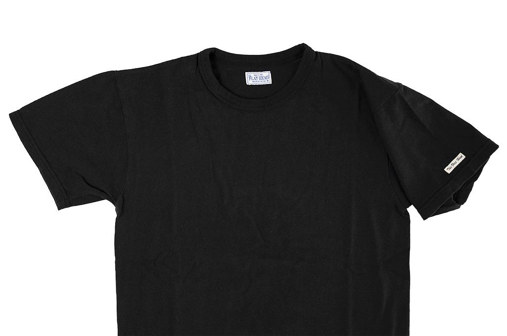 Flat Head Loopwheeled Blank T-Shirt - Black - Image 2