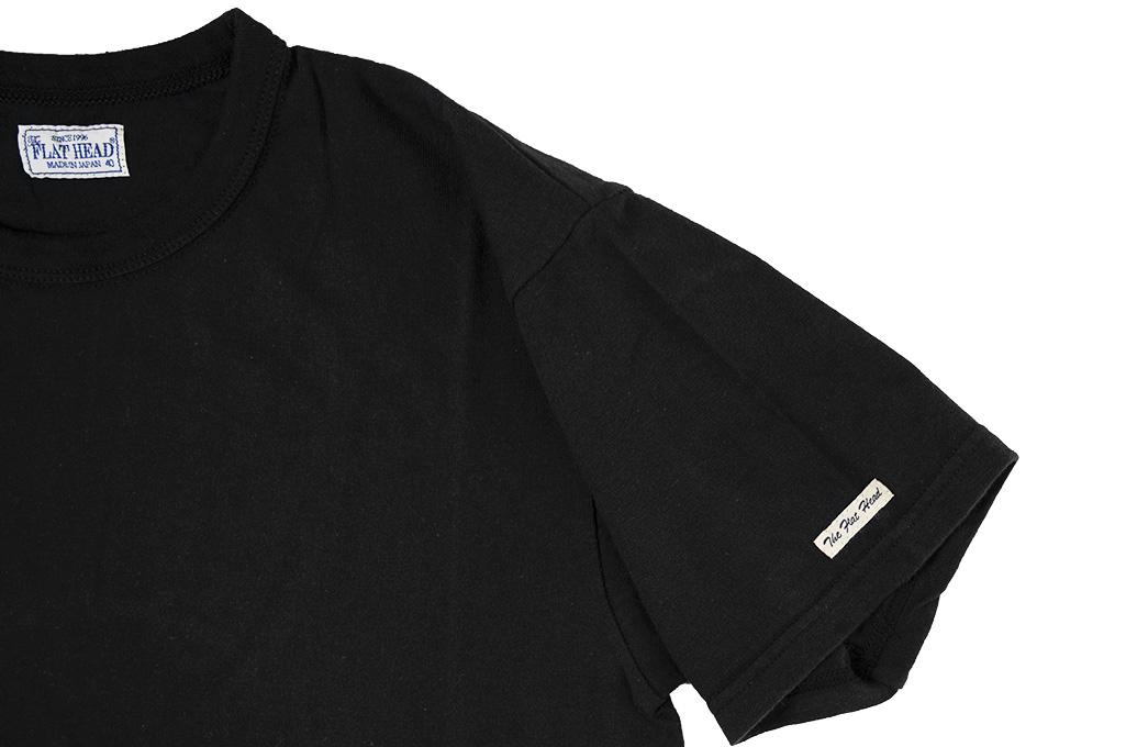 Flat Head Loopwheeled Blank T-Shirt - Black - Image 3