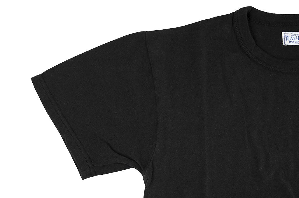 Flat Head Loopwheeled Blank T-Shirt - Black - Image 4