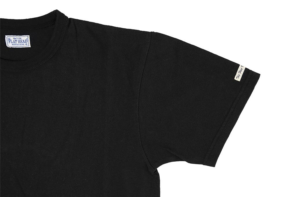 Flat Head Loopwheeled Blank T-Shirt - Black - Image 6