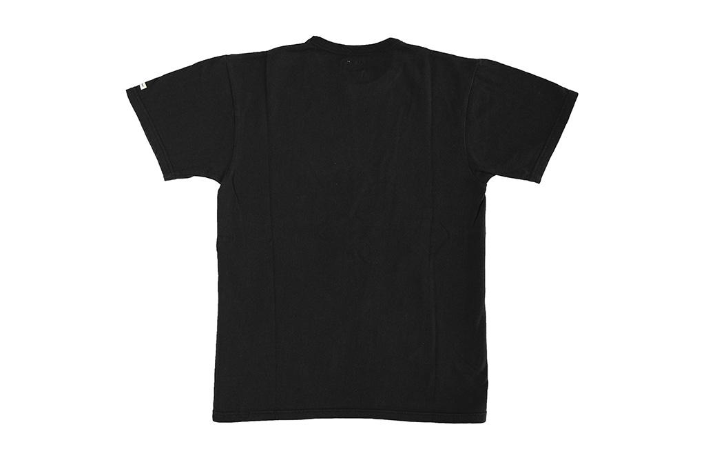 Flat Head Loopwheeled Blank T-Shirt - Black - Image 7