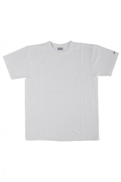 Flat Head Loopwheeled Blank T-Shirt - White