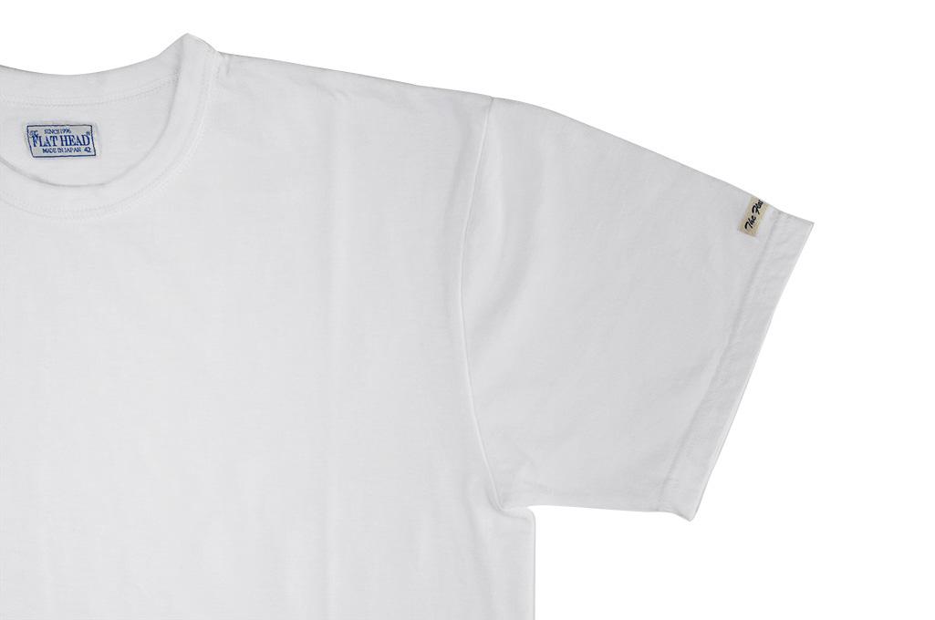 Flat Head Loopwheeled Blank T-Shirt - White - Image 3