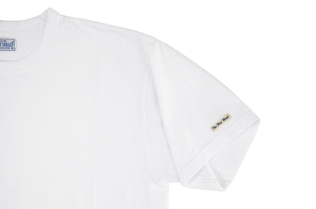Flat Head Loopwheeled Blank T-Shirt - White - Image 4