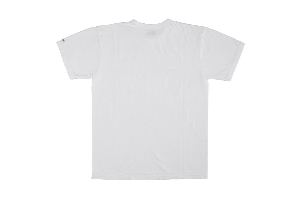 Flat Head Loopwheeled Blank T-Shirt - White - Image 7