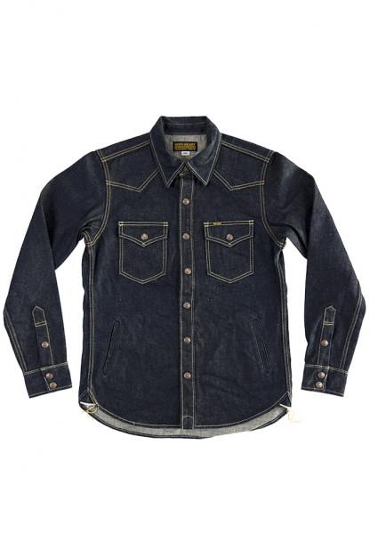 Iron Heart CPO Shirt w/ Hand Pockets - 18oz Indigo Vintage Denim