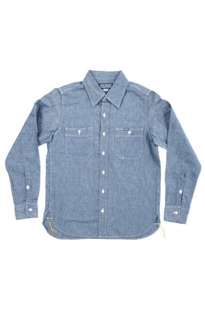 Iron Heart Chambray Workshirt - 5oz Selvedge Cotton Linen