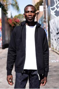 Iron Heart Ultra-Heavy Loopwheeled Hooded Sweater - Zip-Up Black - Image 5