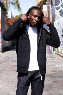 Iron Heart Ultra-Heavy Loopwheeled Hooded Sweater - Zip-Up Black - Image 6