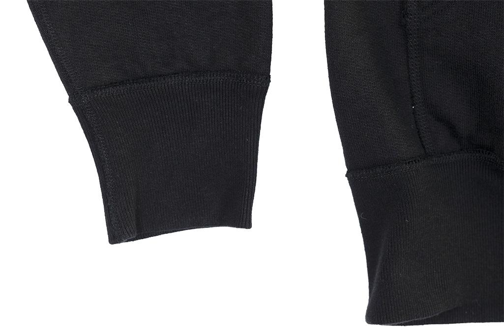 Iron Heart Ultra-Heavy Loopwheeled Hooded Sweater - Zip-Up Black - Image 11