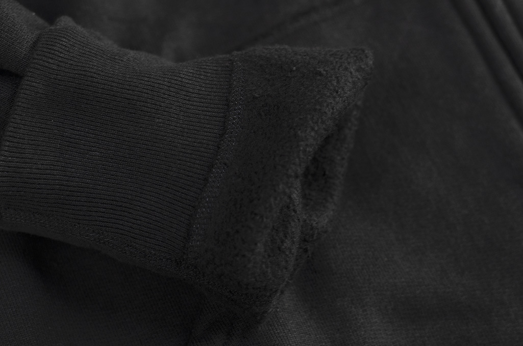 Iron Heart Ultra-Heavy Loopwheeled Hooded Sweater - Zip-Up Black - Image 14