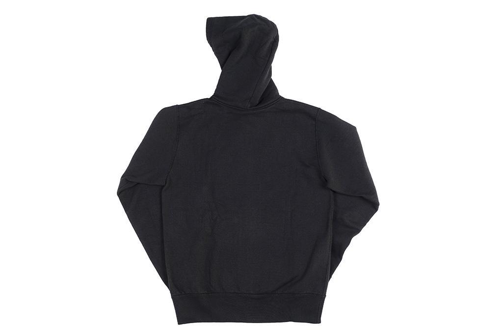 Iron Heart Ultra-Heavy Loopwheeled Hooded Sweater - Zip-Up Black - Image 15