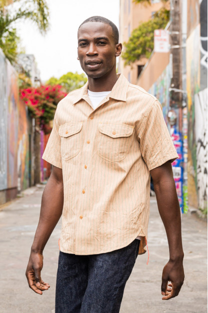 "Sugar Cane ""Coke Stripe"" Factory Shirt"