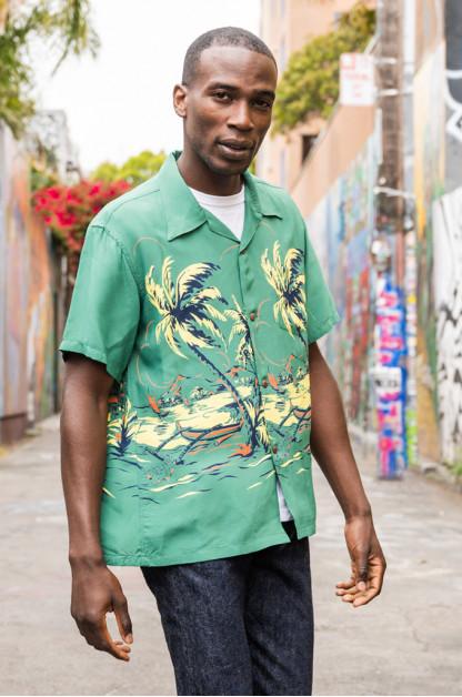 Sun Surf Island Palm Breeze Shirt
