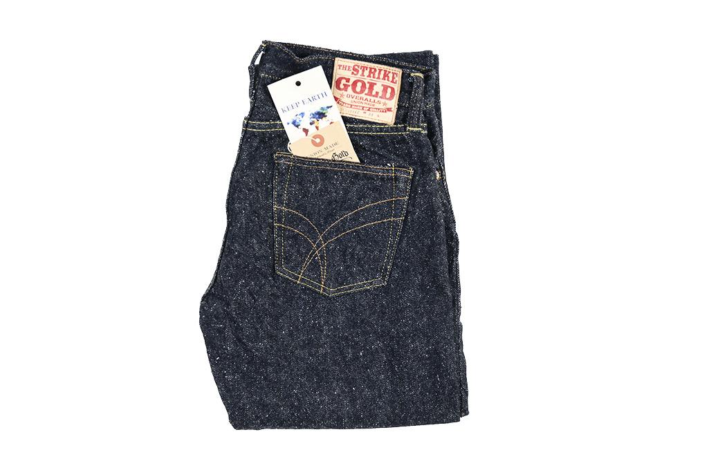 "Strike Gold ""Keep Earth"" Natural Indigo Jeans / 0103KE - Straight Leg - Image 5"