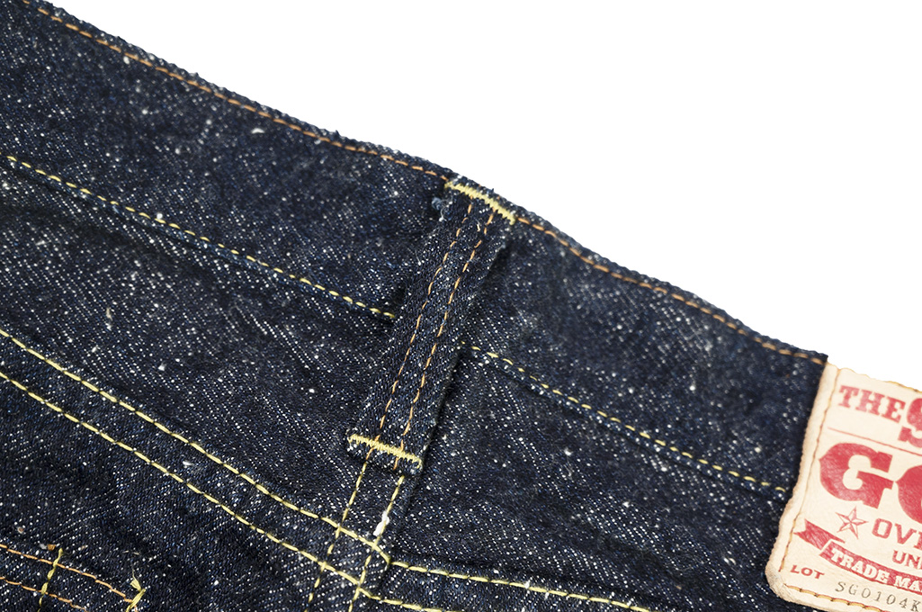 "Strike Gold ""Keep Earth"" Natural Indigo Jeans / 0103KE - Straight Leg - Image 16"