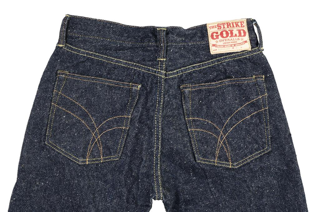 "Strike Gold ""Keep Earth"" Natural Indigo Jeans / 0104KE - Straight Tapered - Image 13"