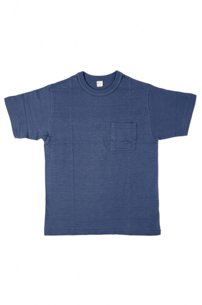 Warehouse Slub Cotton T-Shirt - Navy w/ Pocket