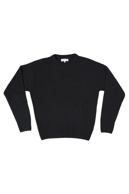 Merz b. Schwanen Cashmere Crewneck Sweater - Deep Black