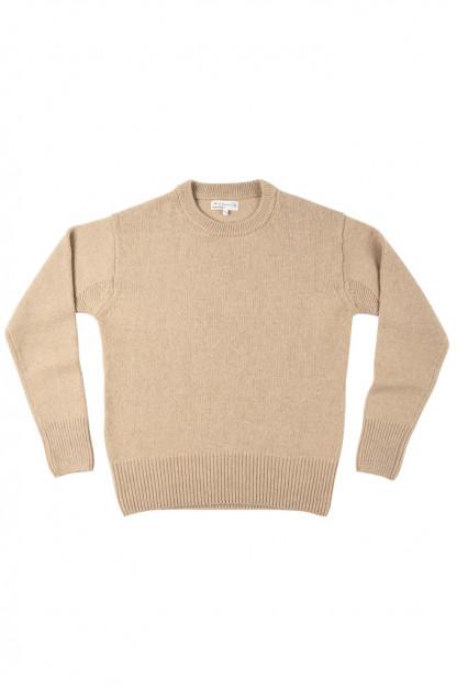 Merz b. Schwanen Merino/Cashmere Crewneck Sweater - Toffee