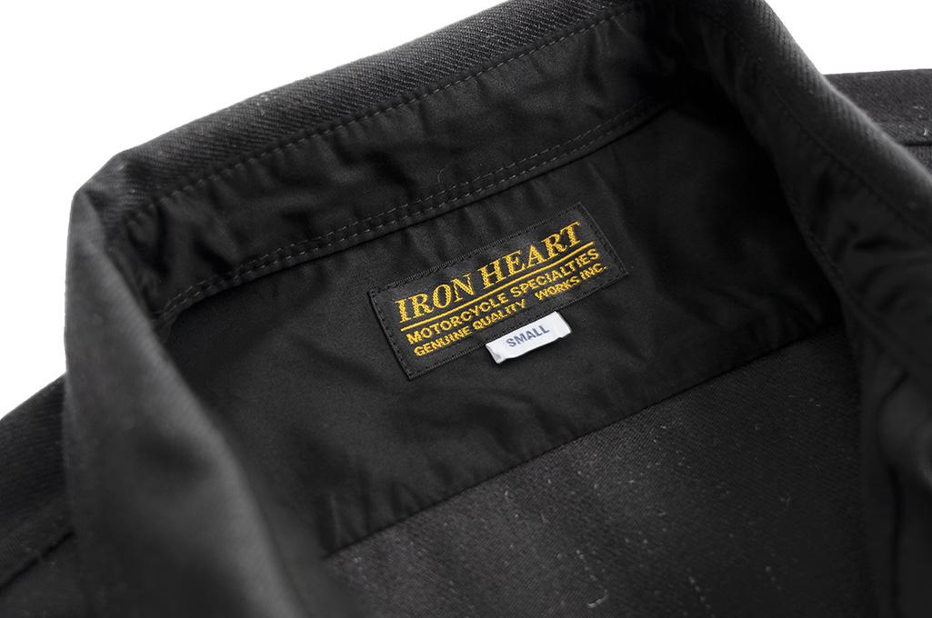 Iron Heart Woolen Serge Workshirt - Black - Image 8