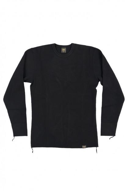 Iron Heart Extra Heavy Cotton Knit Thermal IHTL-1700 - Black