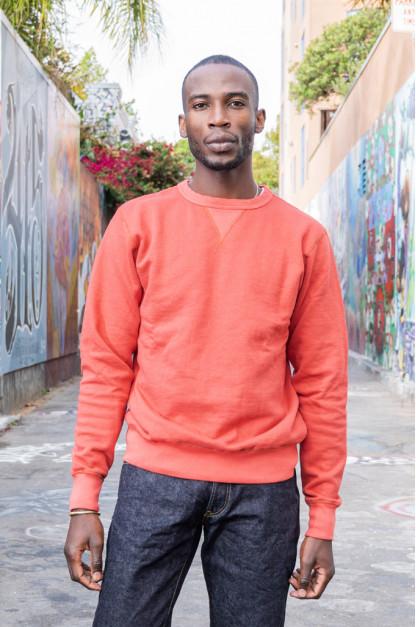 Buzz Rickson Flatlock Seam Crewneck Sweater - Red