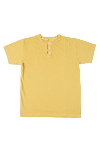 3sixteen Arcoíris Collection / Overdyed Short Sleeve Henley - Yellowish
