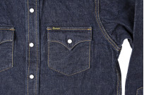 Studio D'Artisan 14oz Denim Western Snap Shirt - Image 3