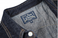 Studio D'Artisan 14oz Denim Western Snap Shirt - Image 4