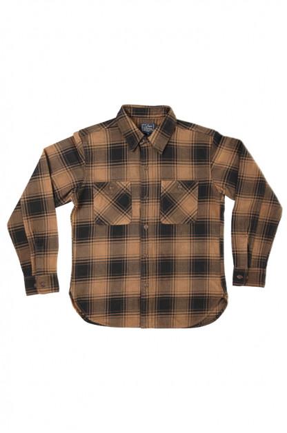 Studio D'Artisan Kakishibu (Persimmon) Dyed Flannel Shirt