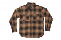 Studio D'Artisan Kakishibu (Persimmon) Dyed Flannel Shirt - Image 1